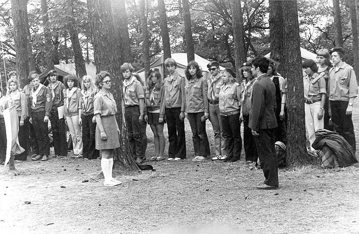 Obóz harcerski w Kliczkowie 1973 r. ze zbiorów autora