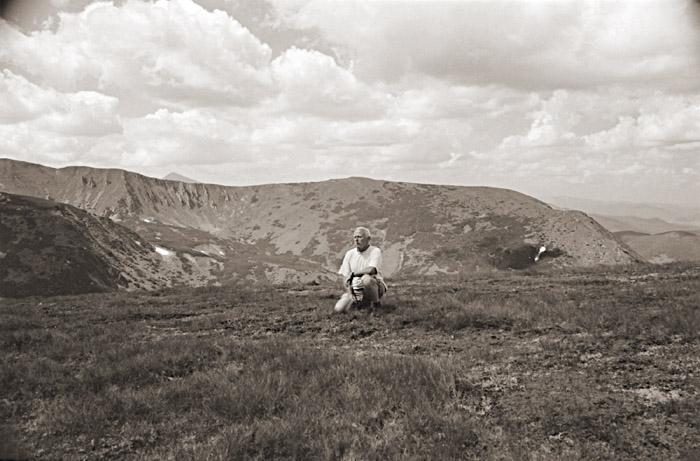 Autor na grani Czarnohory