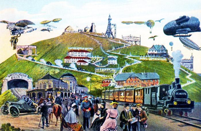 Fot.  12.   Wizja przyszłości na widokówce z roku 1910 roku