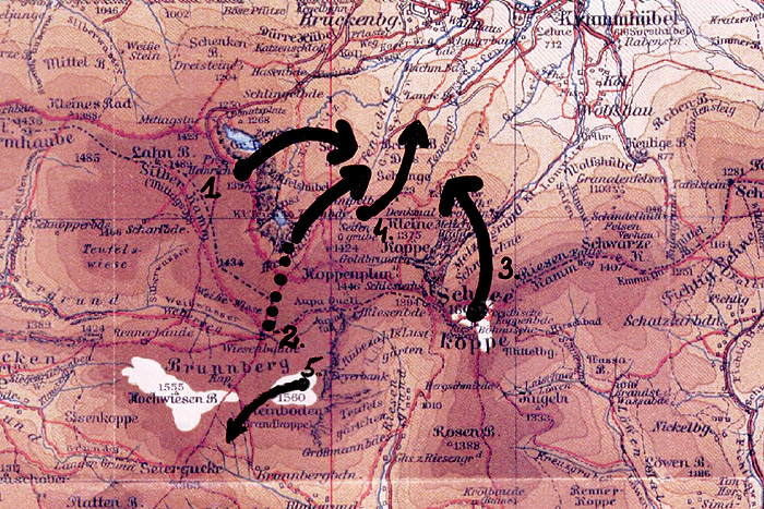 mapa topograficzna regionu