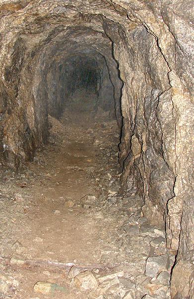 """Jedna z wielu sztolni dawnej kopalni """"Wolność"""""""
