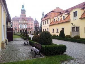 Widok na Zamek Książ