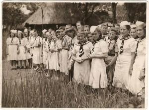 6. Polskie dziewczęta w czasie kursu sanitarnego PCK w Abercorn w Afryce