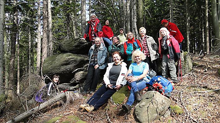 Najwyżej położone skałki Dziki. Foto: Krzysztof Tęcza