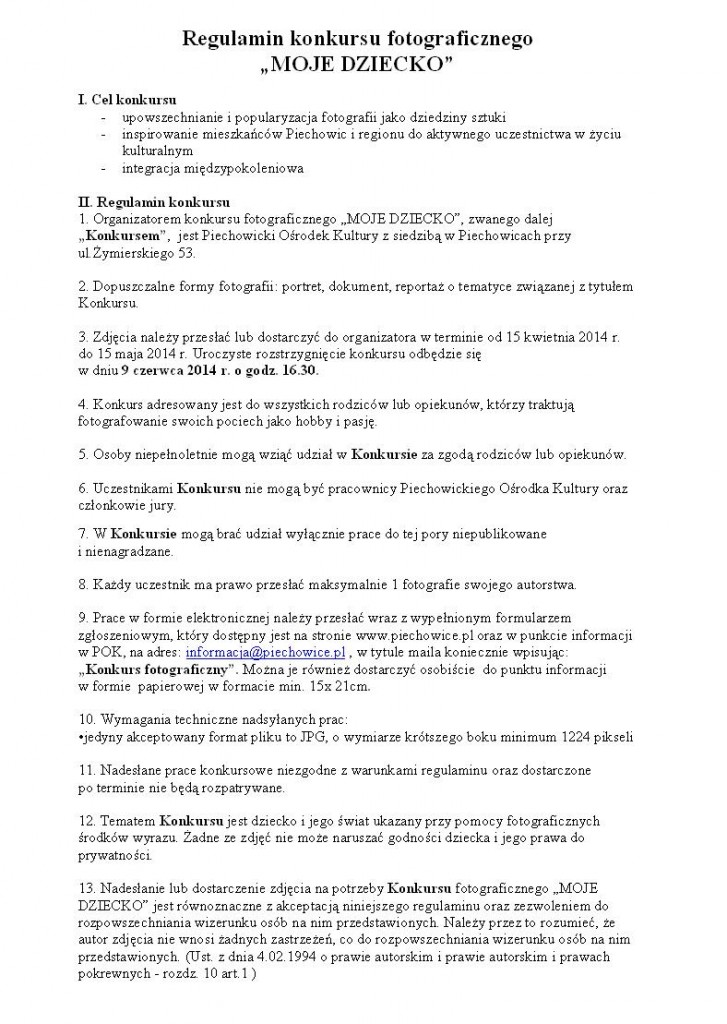 regulamin str1