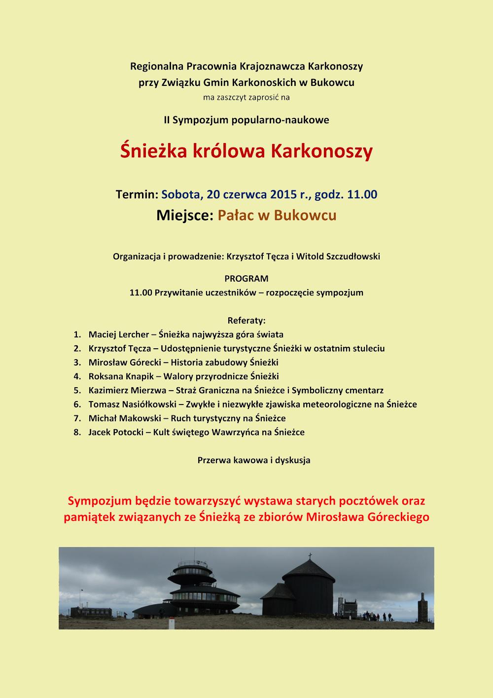 Microsoft Word - II Sympozjum w Bukowcu - A4