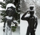 Zimowa pani, zimowy pan. Foto: Krzysztof Tęcza