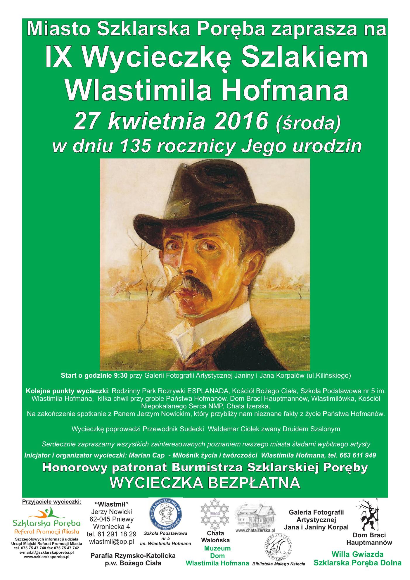 Szklarska_Hofman_Wycieczka - plakat kwiecien 2016
