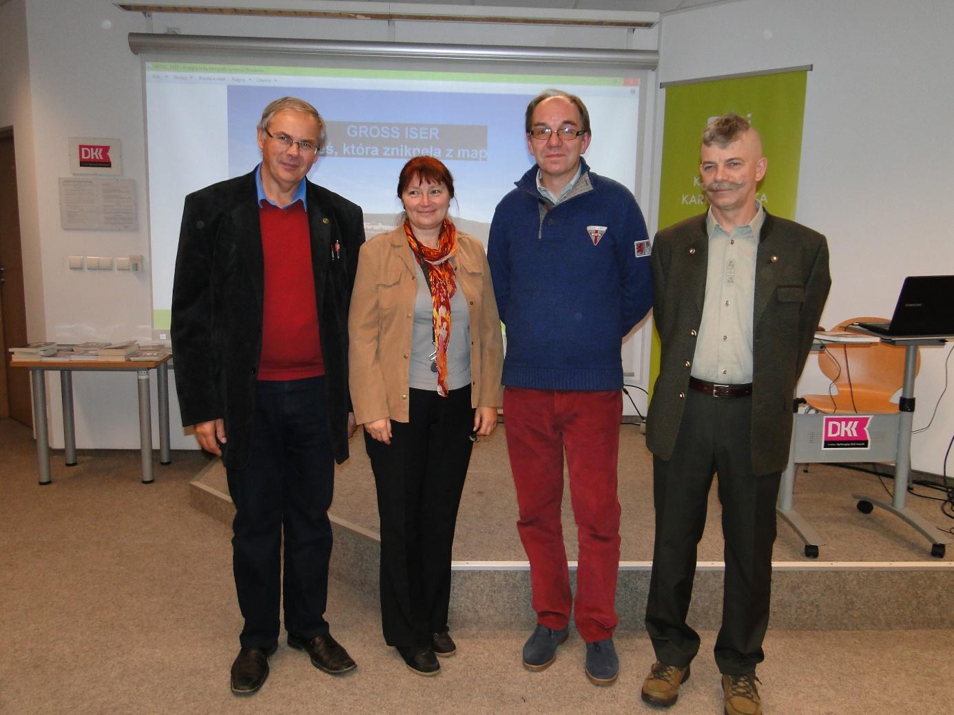 Krzysztof Tęcza, Joanna Broniarczyk, Janusz Skowroński, Andrzej Ciosański (na zdjęciu brakuje Piotra Zamorskiego). Foto: Anna Tęcza
